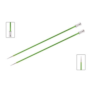 "Knitter's Pride Zing Single Pointed Needles - US 4 (3.5mm) - 10"" Chrysolite Needles"