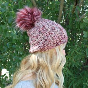 Jimmy Beans Wool Boobie Beanie Hat Kit - Mindy s Mauve - Crochet ... 9e27f462c55