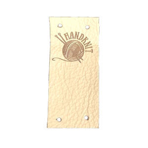 Leather Goods Company Center Fold Leather Label
