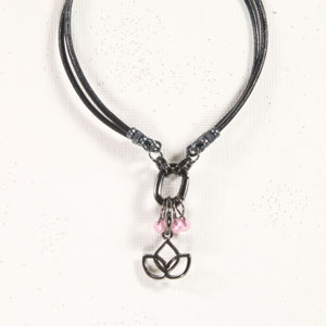 Heidi and Lana Stitch Marker Bracelets - L/Xl Gunmetal - Namaste Breast Cancer