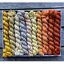 Koigu Pencil Box - Venation Shawl - Sunflower Sky