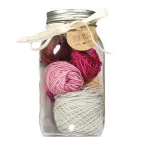 Jimmy Beans Wool Modicum Mitts Mason Jar Sampler - Reds & Pinks