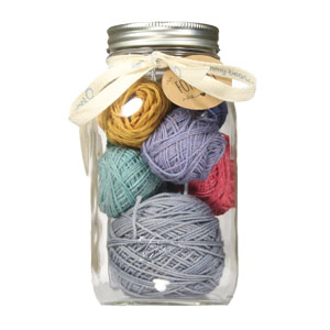 Jimmy Beans Wool Modicum Mitts Mason Jar Sampler - Muted Rainbow