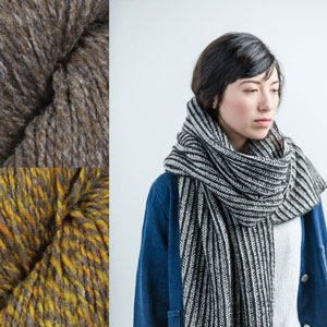 Brooklyn Tweed Kits - Cross Hatch - Truffle Hunt/Caraway