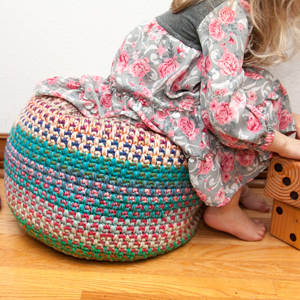 KT and the Squid Patterns - Monster Pouf - PDF DOWNLOAD