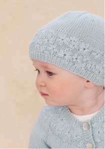 Sublime Cashmere Merino Silk 4-ply Little Posy Set Kit - Baby and Kids Cardigans