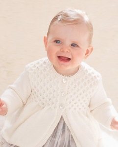 Sublime Cashmere Merino Silk 4 Ply Vintage Smock Frock Cardi Kit - Baby and Kids Cardigans