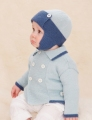 Sublime Cashmere Merino Silk 4 Ply Little Motoring Coat & Helmet