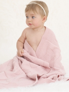 Sublime Baby Cashmere Merino Silk DK Little Heart Blanket Kit - Baby and Kids Accessories