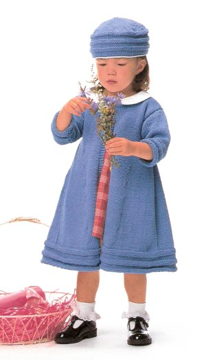 Rowan Handknit Cotton Spring Coat and Pillbox Hat Kit - Baby and Kids Accessories