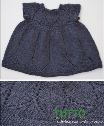 Isager Alpaca 2 Clara Dress Kit - Baby and Kids Pullovers