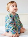 Debbie Bliss Eco Baby Print Classic Cardigan Kit