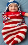 Red Heart Soft Solid Patriotic Baby Cocoon and Hat