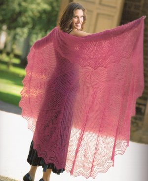 Rowan Kidsilk Haze Lace Cap Shawl Kit - Scarf and Shawls