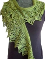 Mrs. Crosby Hat Box Birdsfoot Fern Shawl Kit