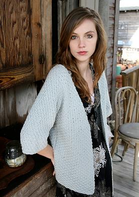 Blue Sky Fibers Worsted Cotton Fairhope Cardigan Kit - Women's Cardigans