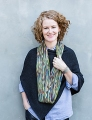 Misti Alpaca Hand Paint Sock Crocheted 'Linen Stitch' Scarf & Loop
