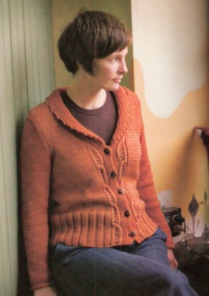 Blue Sky Fibers Worsted Hand Dyes Sienna Cardigan Kit - Women's Cardigans