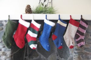 Knitting Pure and Simple Home Accessory Patterns - 277 - Easy Christmas Stocking Pattern