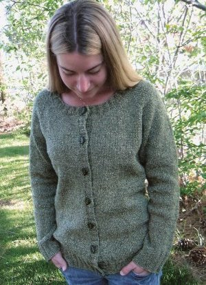 Knitting Pure and Simple Women's Cardigan Patterns - 0278 - Neckdown Scoop Neck Cardigan Pattern