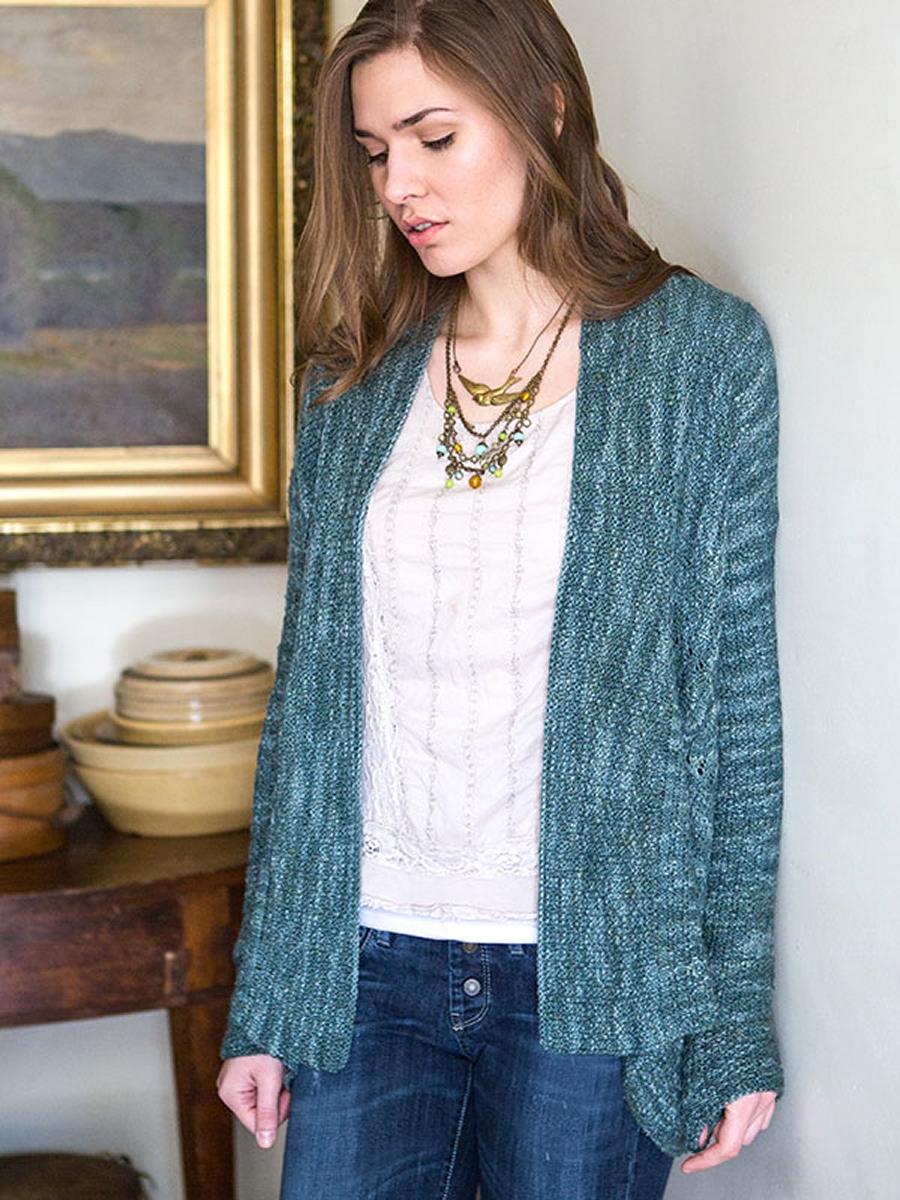 Free Knitting Pattern Ruffle Cardigan : Berroco Artisan Calleta Cardigan Kit - Womens Cardigans Kits at Jimmy Be...