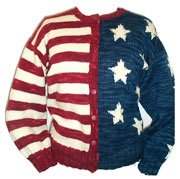 Lornas Laces Shepherd Worsted Old Glory Flag Cardigan Kit - Women's Cardigans