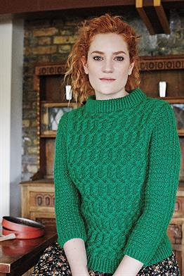 Plymouth Worsted Merino Superwash Maude Pullover Kit - Women's Pullovers