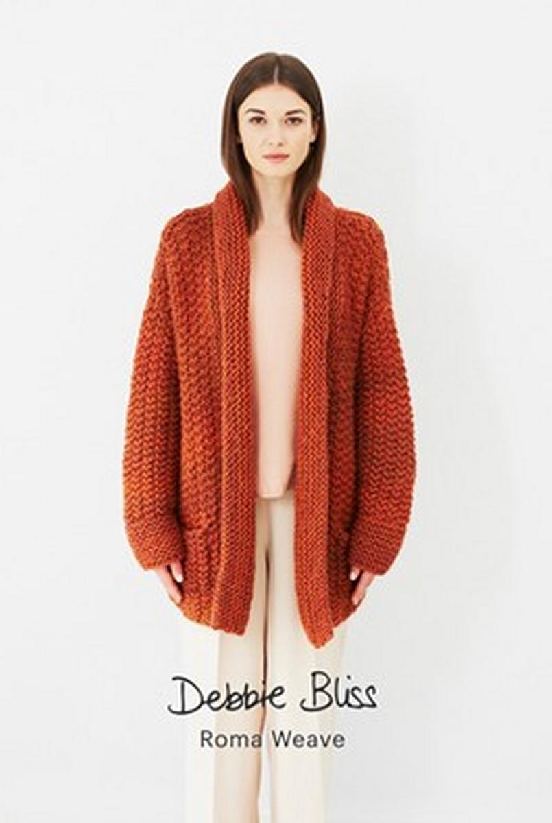 Debbie Bliss Roma Weave Moss Stitch Jacket Kit - Women\'s Cardigans ...