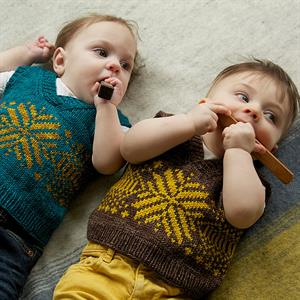 Madelinetosh Tosh DK Peanut Vest Kit - Baby and Kids Vests