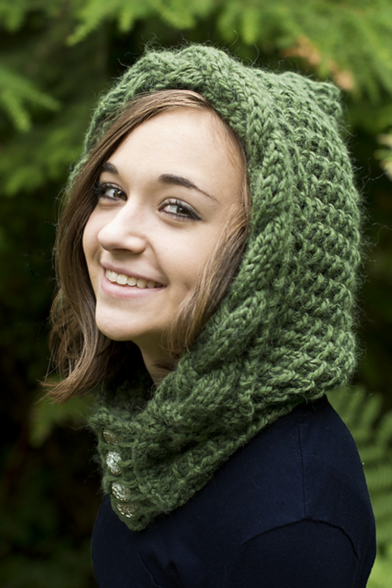 Spirit Hood Knitting Pattern : Cascade Salar Knockma Hood Kit - Hats and Gloves Kits at ...