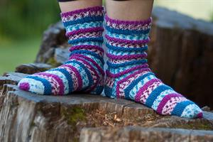Cascade Heritage Prints Popp'in Prints Socks Kit - Socks