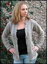 Cascade Luna Scalloped Eyelet Cardigan Kit - Women's Cardigans