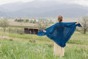 Malabrigo Merino Worsted Squall Line Shawl Kit - Scarf and Shawls