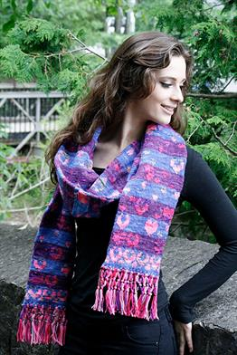 Koigu KPM and KPPPM I Heart Fair Isle Scarf Kit - Scarf and Shawls