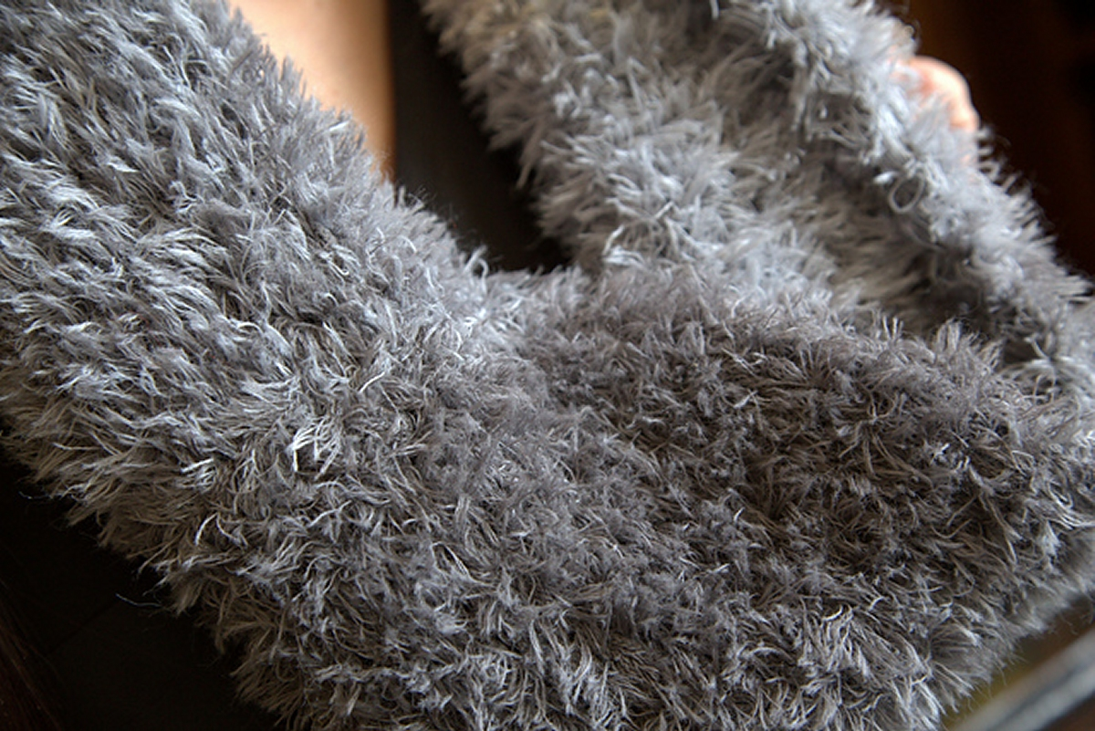 Complicated Knitting Stitches : Plymouth Yarn Arequipa Fur F625 Ombre Cowl Kit - Scarf and Shawls Kits at Jim...