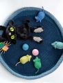 Plymouth Encore Worsted Crocheted Cat Bed Kit
