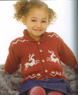 Rowan Wool Cotton Holly Kit - Baby and Kids Cardigans