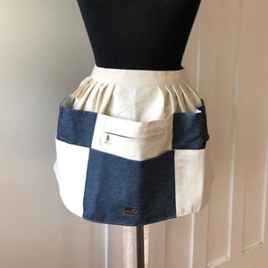 della Q Craft Apron - 7010-1 - 803 Natural/Blue