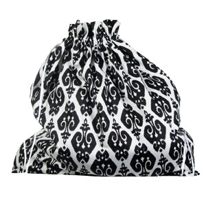 della Q Large Eden Pouch - 119-2 - Black and White