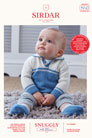 Sirdar Snuggly Baby and Children Patterns - 5263 Sweater and Booties