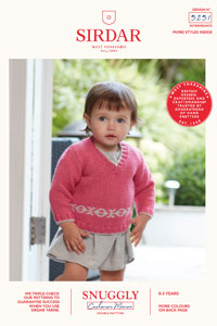 Sirdar Snuggly Baby and Children Patterns - 5251 Sweater and Tank Top Pattern