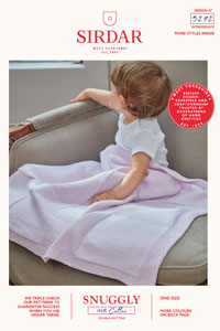 Sirdar Snuggly Baby and Children Patterns - 5272 Blanket Pattern
