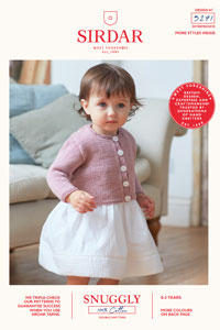 Sirdar Snuggly Baby and Children Patterns - 5271 Cardigans Pattern