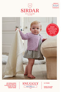Sirdar Snuggly Baby and Children Patterns - 5260 Blanket and Cardigan Pattern