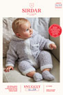 Sirdar Snuggly Baby and Children Patterns - 5259 Hooded Onesie and Booties