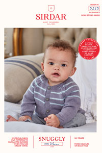 Sirdar Snuggly Baby and Children Patterns - 5265 Cardigan and Sweater Pattern