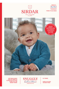 Sirdar Snuggly Baby and Children Patterns - 5250 Cozy Cardigan Pattern