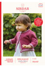 Sirdar Snuggly Baby and Children Patterns - 5248 Two Stripe Round Neck Button Cardigan