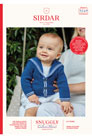 Sirdar Snuggly Baby and Children Patterns - 5247 Two Stripe V-Neck Button Cardigan
