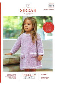 Sirdar Snuggly Baby and Children Patterns - 5255 Textured Dress and Hat Pattern